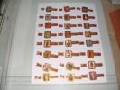 Sigarenbanden Ritmeester Serie Kunstschatten Uit Het Brits Museum Langer   24 St - Bagues De Cigares