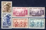 Algeria 1957 Pro Sinistrati Serie N. 319-324  **MNH Catalogo € 23,50 - Unused Stamps