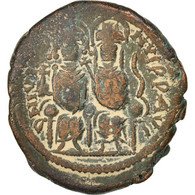 Justin II 565-578, Follis, Non Applicable, Nicomedia, TTB, Cuivre, Sear:369 - Byzantines