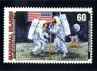 Marshall Islands 1999 Mi. 1221 MNH, Developments 1960-69, Neil Armstrong Edwin Aldrin As 1st Men On The Moon (1969) Flag