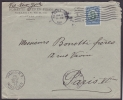 1910-H-63 CUBA REPUBLICA. 1910. 5c AGRAMONTE BICOLOR CARTA A PARIS, FRANCIA. - Cuba