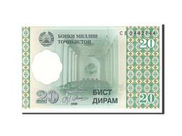 Tajikistan, 20 Diram, 1999, KM:12a, Undated, SPL - Tadjikistan