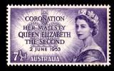 Australia 1953 Coronation 71/2d Queen Elizabeth MNH - See Notes - 1952-65 Elizabeth II : Pre-Decimals