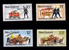 New Zealand 1977 Fire Fighting Appliances Set Of 4 Mint No Gum - New Zealand