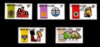 New Zealand 1976 Anniversaries Set Of 5 Mint No Gum - New Zealand