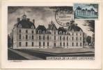 FRANCE  980 FDC 1er Jour Château De La Loire De Cheverny Moulinsart (6) TINTIN HERGE KUIFJE Comics Schloss Castle - Comics