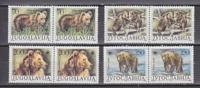 Yugoslavia 1987 WWF / Bears 4v (pair)  ** Mnh (26885a) - W.W.F.