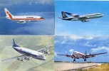 Avion - Lot De 4 CP - Vickers - Boeing - Douglas - Air France - Olympic - Air Portugal - Air Algérie - 1946-....: Moderne