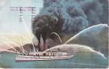 POSTAL DE UN BARCO DE BOMBEROS EN SAN FRANCISCO DEL AÑO 1917 (BARCO-SHIP) FIRE BOAT - Comercio