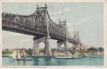 POSTAL DE UN BARCO EN BLACKWELL'S ISLAND BRIDGE. NEW YORK DEL AÑO 1920 (BARCO-SHIP) - Comercio