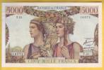 BILLET FRANCAIS - 5000 Francs Terre Et Mer 10.3.1949 SUP+ - 1871-1952 Frühe Francs Des 20. Jh.