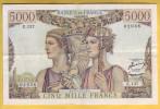 BILLET FRANCAIS - 5000 Francs Terre Et Mer 2.7.1953 TTB+ - 1871-1952 Frühe Francs Des 20. Jh.