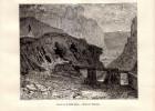 1887 - Gravure Sur Bois - Ladoye-sur-Seille (Jura) - La Source De La Seille - FRANCO DE PORT - Vieux Papiers