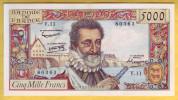 BILLET FRANCAIS - 5000 Francs Henri IV 6.6.1957 SUP - 1871-1952 Anciens Francs Circulés Au XXème