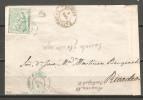 Frontal De Carta Con Matasello De Luarca En Azul Y Castropol En Negro. - Covers & Documents