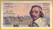 BILLET FRANCAIS - 10 NF Richelieu 4.2.1960 SPL - 1959-1966 ''Nouveaux Francs''