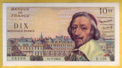 BILLET FRANCAIS - Billet Fauté - 10 NF Richelieu 1.9.1960 SPL . - Fouten