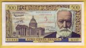 BILLET FRANCAIS - 5 NF Sur 500 Francs Victor Hugo 30.10.1958 TTB+ - 1955-1959 Surchargés En Nouveaux Francs