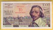 BILLET FRANCAIS - 10 NF Sur 1000 Francs Richelieu 7.3.1957 SUP+ - 1955-1959 Sovraccarichi In Nuovi Franchi