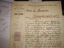 Fiscal Revenue  ETAT CIVIL  Acte De Naissance 1897 Ville Saint ETIENNE-signature Du Maire - Revenue Stamps