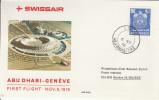 Abu Dhabi Genève 1976 - 1er Vol Erstflug Inaugural Flight Primo Volo - Swissair - Abu Dhabi