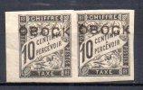 3/ Obock Taxe : N° 10 Neuf XX  Cote : 180,00 € , Disperse Trés Grosse Collection ! - Neufs