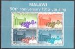 Malawi 1965 Geschichte Aufstand Rebellion Persönlichkeiten John Chilembwe Kirchen Churches Missionskirche, Bl. 3 ** - Malawi (1964-...)