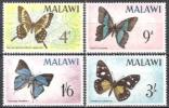Malawi 1966 Tiere Animals Fauna Schmetterlinge Butterflies Papilion Mariposa Insekten Insects, Mi. 37-0 ** - Malawi (1964-...)