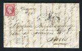 Lettre De Santiago De Cuba Pour Paris 1866 - Cachet Maritime CUBA & Ancre - 1862 Napoleon III