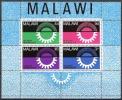 Malawi 1967 Wirtschaft Economy Industrie Industry Entwicklung Developement Sonne Zahnrad Zahnräder, Bl. 8 ** - Malawi (1964-...)