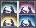 Malawi 1967 Religion Christentum Feiertage Weihnachten Christmas Heilige Familie Krippen Scherenschnitte, Mi. 76-9 ** - Malawi (1964-...)