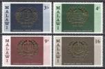 Malawi 1969 Organisationen Vereinte Nationen Wirtschaft Arbeitsorganisation ILO UNO ONU Embleme, Mi. 106-9 ** - Malawi (1964-...)