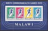 Malawi 1970 Organisationen Sport Commonwealth-Sportwettkämpfe Spiele Leichtathletik Laufen Läufer, Bl. 18 ** - Malawi (1964-...)