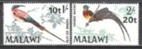 Malawi 1970 Tiere Animals Fauna Vögel Birds Oiseaux Spinte Paradieswitwe Wildlife Natur Währung, Mi. 132-3 ** - Malawi (1964-...)