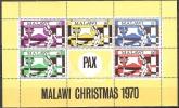 Malawi 1970 Religion Christentum Feiertage Weihnachten Christmas Heilige Familie Mutter Kind, Bl. 20 ** - Malawi (1964-...)