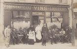 Commerce - Carte-Photo -  Restaurant Vins Liqueurs - Paris ? - Métiers - Caniche - A Situer - Restaurants