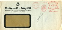 3561 Bohemia Morava, Red Meter Freistempel 1942 Prag , Circuled Cover  Kohinoor - Böhmen Und Mähren