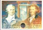 """Carte Déclarations Droits De L'homme  """" Danton - Fabre  """"  Daté  1°  Jour Du  26 - 8 - 1989  De Versailles Sur N° 2605 - Cartas Máxima"""