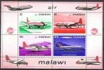 Malawi 1972 Transport Verkehr Luftfahrt Flugzeuge Aeroplanes Planes Vickers Hawker Britten Norman, Bl. 26 ** - Malawi (1964-...)