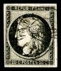N°3, 20c Noir Obl Càd Type 15 Du 8 Janvier 1849, TB (signé Scheller)    Qualite: O   Cote: 250 Euros - 1849-1850 Cérès