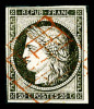 N°3, 20c Noir Sur Jaune Obl Grille Rouge, TB (signé Roumet)    Qualite: O   Cote: 1100 Euros - 1849-1850 Cérès