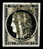 N°3, 20c Noir Sur Jaune Obl 4 Barres De Lilles, R.R. Et SUPERBE (signé Brun/Calves/Certificats)    Qualite: O   Cote: 32 - 1849-1850 Cérès