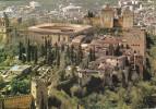 """España--Granada--1971--Vista General De La Alhambra--""""Correo Aereo""""--a, Bordeaux, Francia - Castillos"""