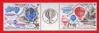 TAAF - Poste Aérienne  83A  ** MNH -Triptyque PA 82 Et PA 83 (1984) - Bicentenaire De L´Air Et De L´Espace - Terres Australes Et Antarctiques Françaises (TAAF)
