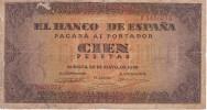 BILLETE DE ESPAÑA DE 100 PTAS 20/05/1938 SERIE F (BANK NOTE) - 100 Pesetas
