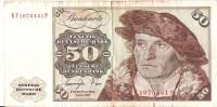 Billet 50 Deutsche Mark - Allemagne Fédérale - Etat TB - 50 Deutsche Mark