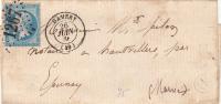 1866. LETTRE . N° 22. MARNE. DAMERY. GC 1267. BOITE RURALE D   /  7506 - 1849-1876: Période Classique