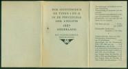 Nederland Dertiger Jaren Mapje Met Uitleg Over Postzegels Uit 1867 Typen I En II - Pays-Bas