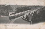 Luxembourg Le Nouveau Pont Du Chemin De Fer Train à Vapeur Ch. Bernhoeft 1908 - Luxembourg - Ville