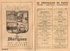 Programmes Parisiens - Semaine Du 11 Octobre Au 17 Octobre 1950 - LE MARIGNAN - 27 Av. Des Champs Elysées - Paris - Programmes